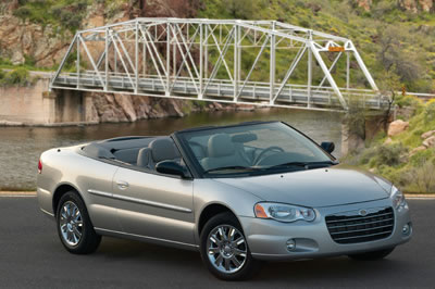 ... 2006 Chrysler Sebring Convertible Limited back seat Chrysler
