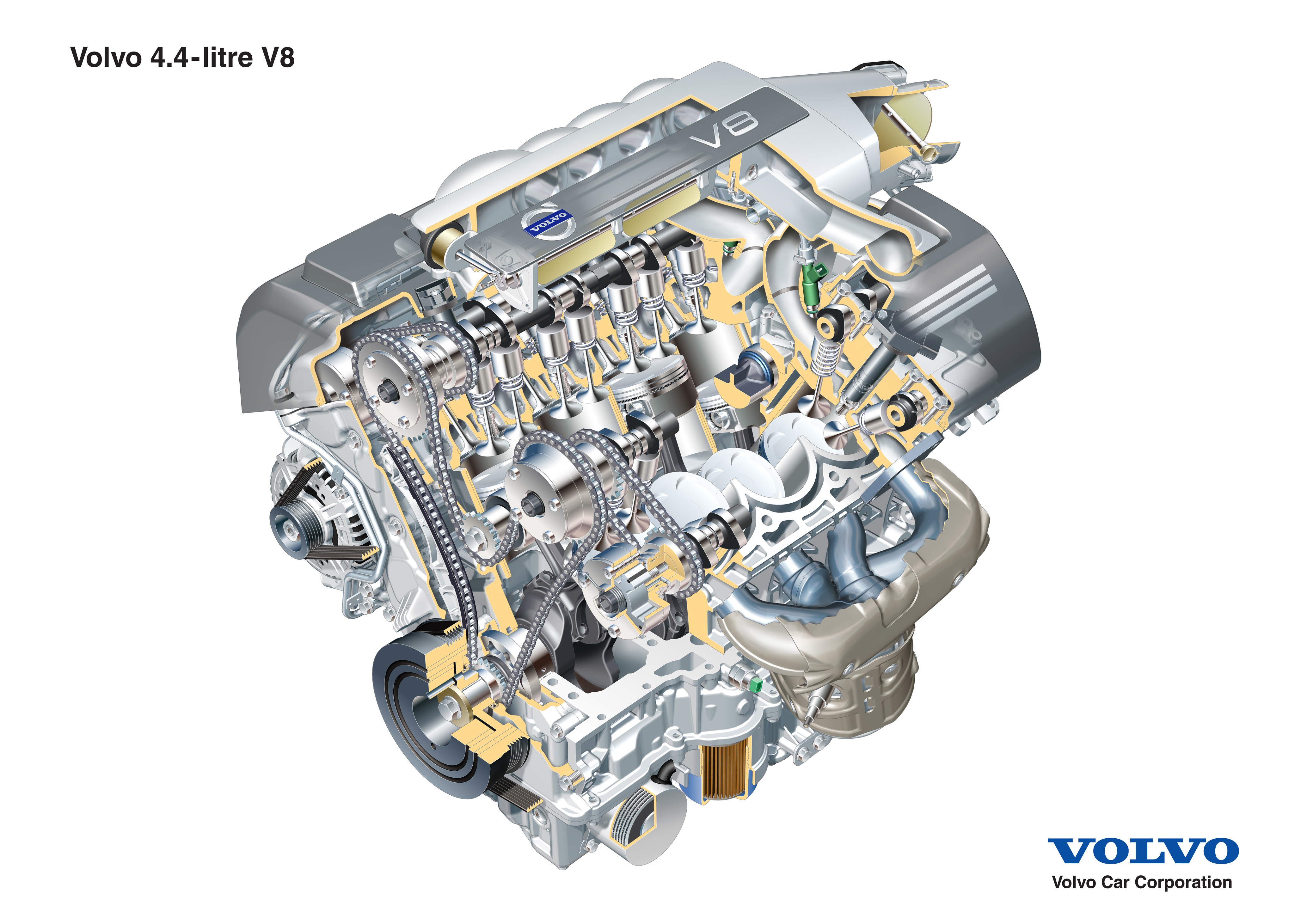 Volvo    XC90 gets the stateoftheart V8 powertrain for 2005