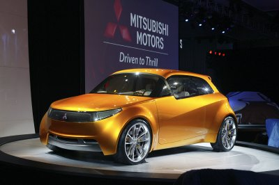 Mitsubishi Motors Unveils Future Hybrid Powered Small Car At North American International Auto Show