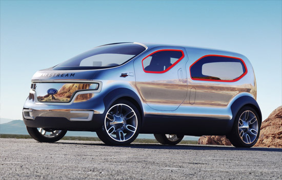 2007 Detroit Auto Show - Ford Airstream Concept; Crossover Model of the