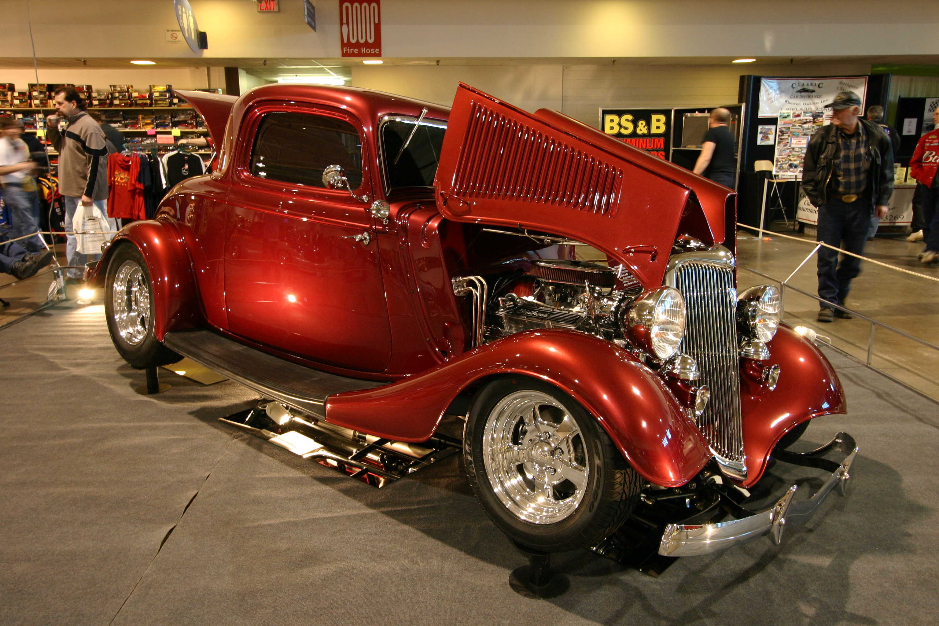 Cars featured at the 2007performance world custom car truck show