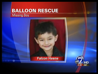 UPDATE: 6-year-old Falcon Heene Floats Away in balloon - FIRST VIDEO