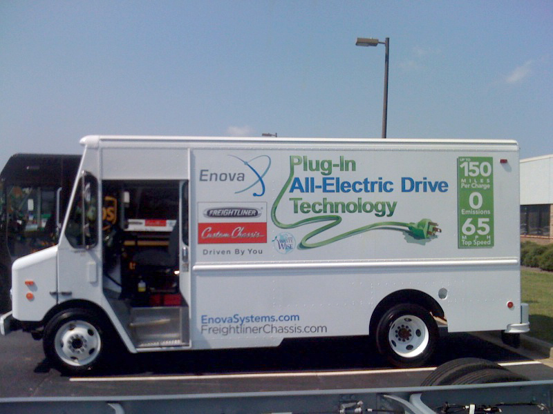 Production Walk In Step Electric Van Made California