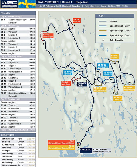 World Rally Championship Preview Rally Sweden