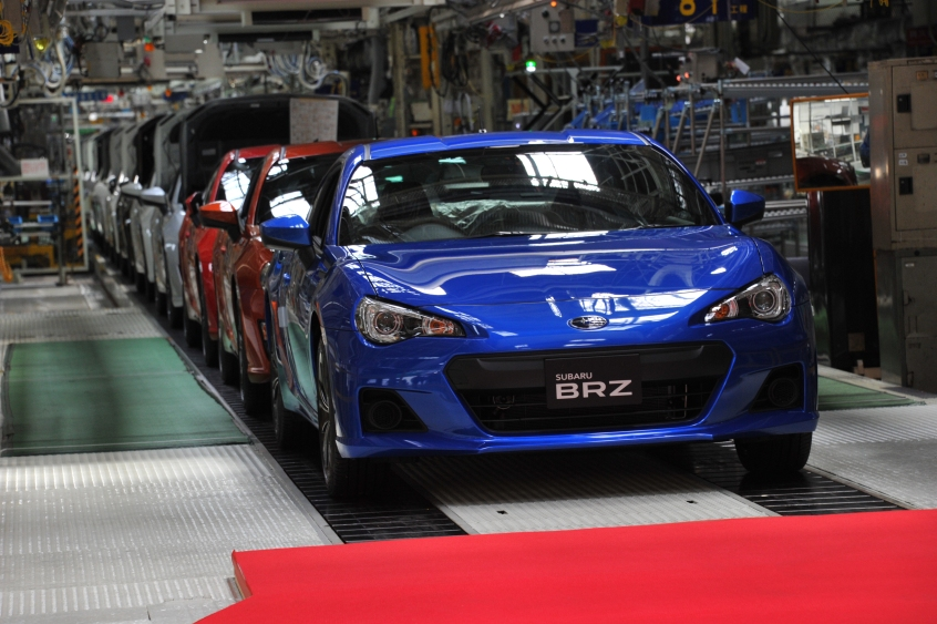 Fuji Heavy Industries Started Production of the Subaru BRZ ...