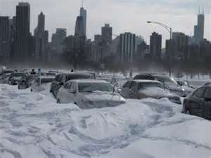 Winter Lake Shore Drive Blizzard