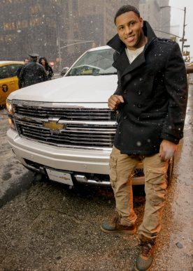 seattle seahawks linebacker malcolm smith with his new silverado