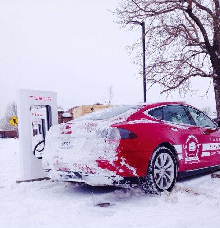 Tesla Makes History With Cross Country
