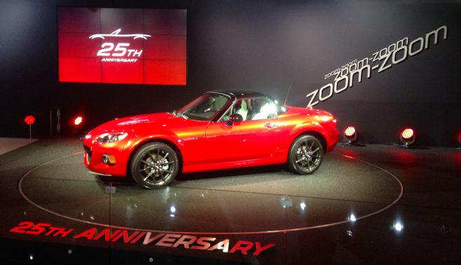 2015 mazda mx 5 miata 25th anniversary edition pricing and pre order information video. Black Bedroom Furniture Sets. Home Design Ideas