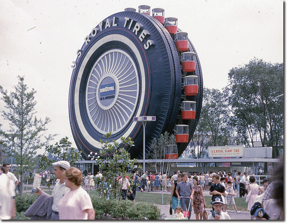 Giant uniroyal tire doesn 39 t tread lightly as motor city icon for Motor city towing detroit michigan