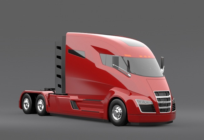 Nicola One Electric Semi With Onboard Cng Turbine To