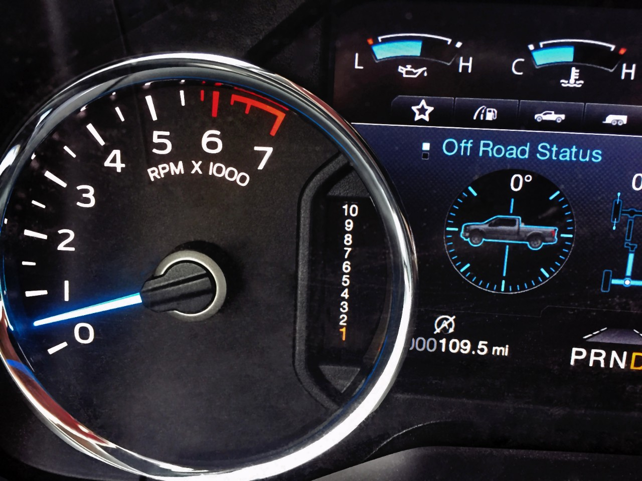 2017 Ford F 150 Instrument Cluster Features 10 Speed