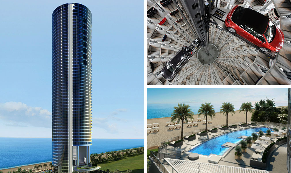 Porsche Sky Elevator Car Condos Miami S Building For
