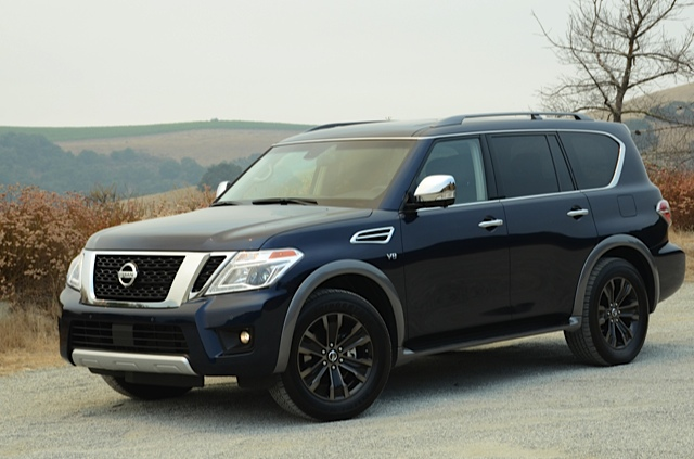 2017 nissan armada review room for eight video by larry. Black Bedroom Furniture Sets. Home Design Ideas