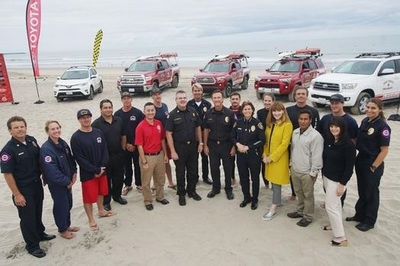 Thirty-Five Brand New 2017 Toyota Vehicles Unveiled as Part of a Renewed Partnership with the City of San Diego Lifeguards