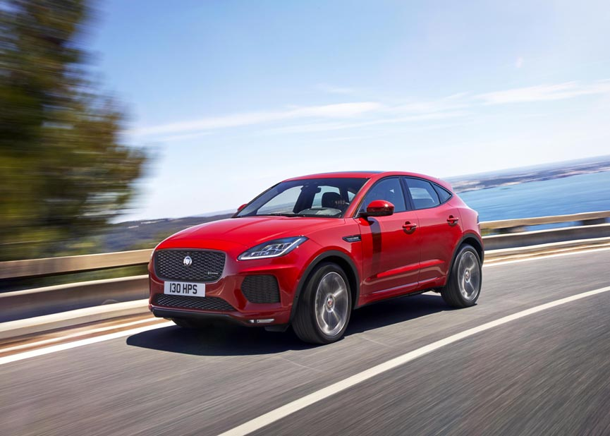 2018 jaguar e pace a compact performance suv with sports car looks video. Black Bedroom Furniture Sets. Home Design Ideas