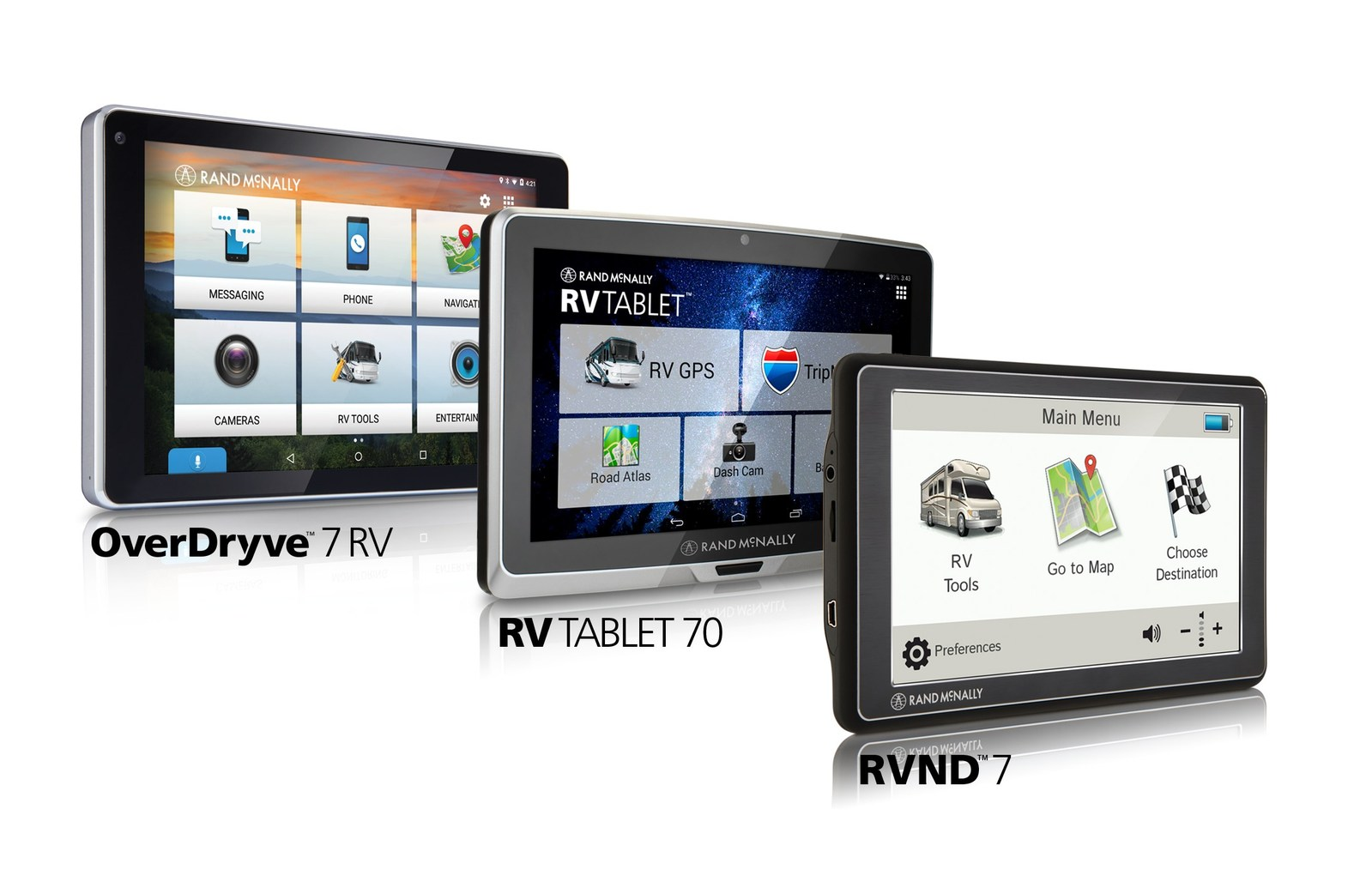 Rand Mcnally Overdryve 7 Rv Reviews >> Three New Dashboard Devices for RVs Now From Rand McNally