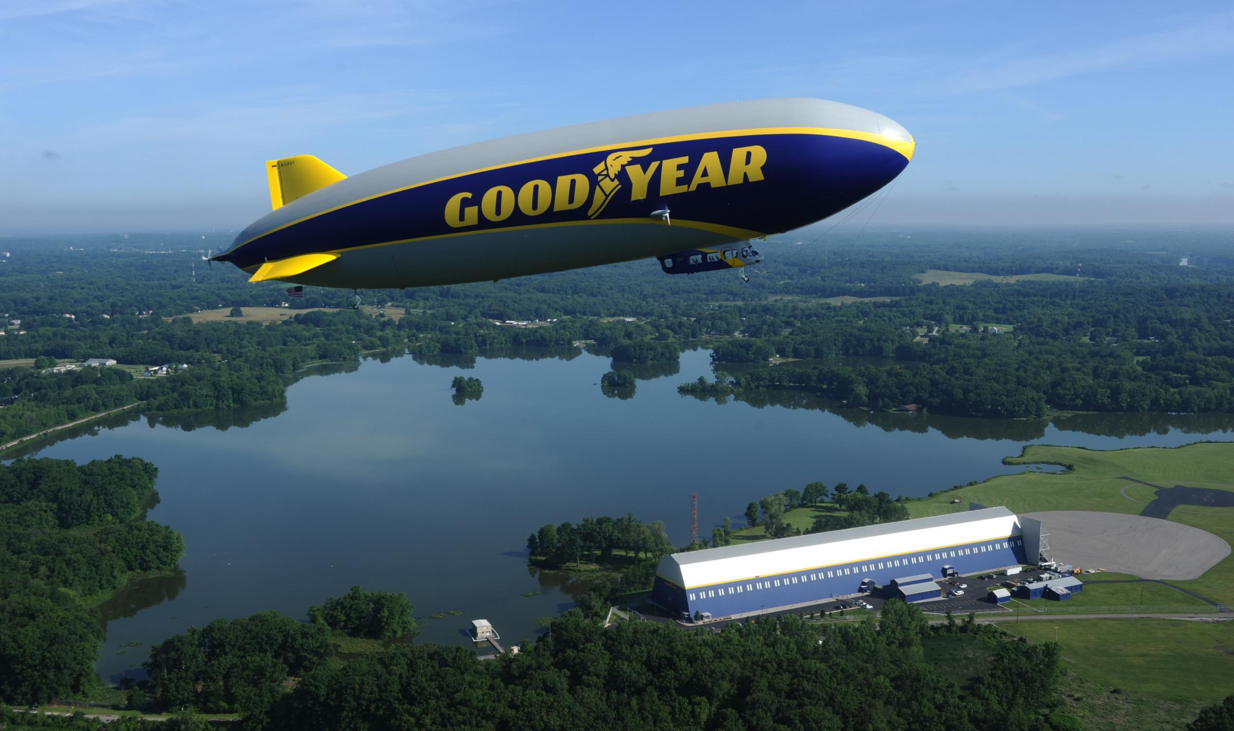 Goodyear S New Blimp Wingfoot Two Arrives In Los Angeles