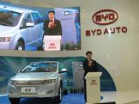 Chinese Car Maker BYD at 2010 Detroit Auto Show