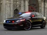 New Stealth Ford Police Interceptor Mixes Muscle and Mystery at 2010 SEMA Show - VIDEO ENHANCED