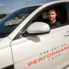 British Actor Nicholas Hoult Takes On Unique Driving Challenge In New Jaguar Xf All-Wheel Drive