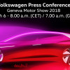 Watch Live Today: Volkswagen Press Conference at 2018 Geneva Motor Show +VIDEO