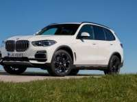 The 2021 BMW X5 xDrive45e PHEV Sports Activity Vehicle. Close-up Look