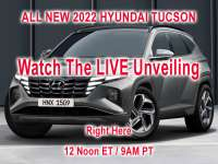 WATCH LIVE: Hyundai Unveils 2022 Tucson at 12 Noon ET - 9AM PT +VIDEO