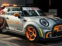 The MINI Electric Pacesetter first JCW Inspired MINI FIA Formula E Safety Car.