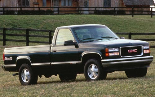 Gmc truck 1995 sierra curb weight extended cab