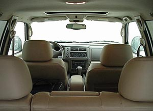 Interior view from rear