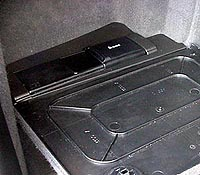 Close-up of CD changer
