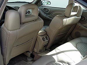 Rear seat facing front