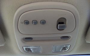 Sunroof and Garage Door Opener controls