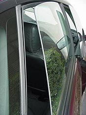 rear frameless window