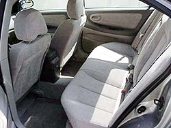 side view of rear seat