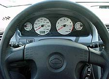 steering wheel and gauges