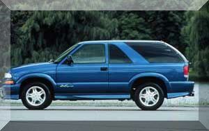 car of the week july 9 2001 chevrolet blazer xtreme. Black Bedroom Furniture Sets. Home Design Ideas